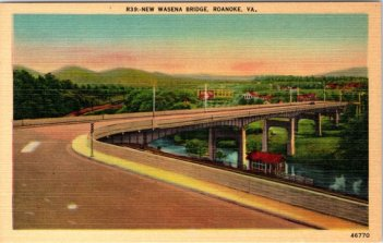 Wasena bridge postcard