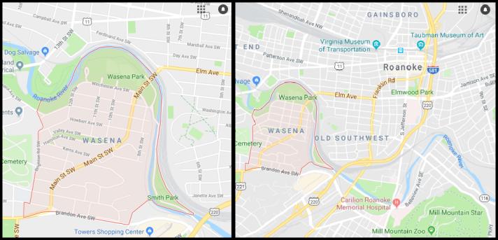 Wasena map